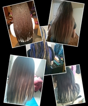 Weave,  braids,  tape-in and other types of African/Black hair extension